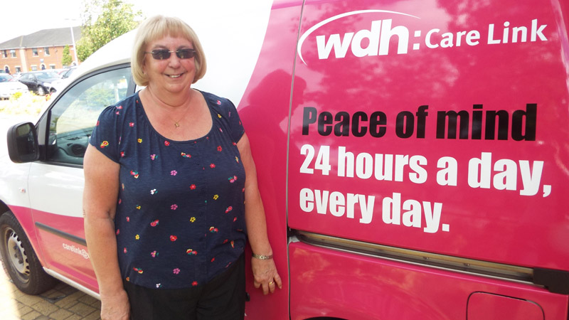 Doreen with a Care Link Van