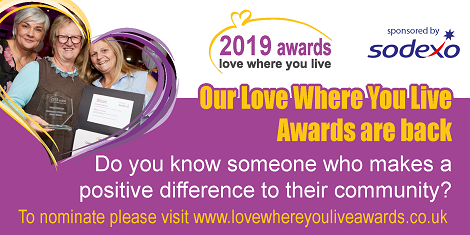 Nominations for Love Where You Live Awards 2019 are now open
