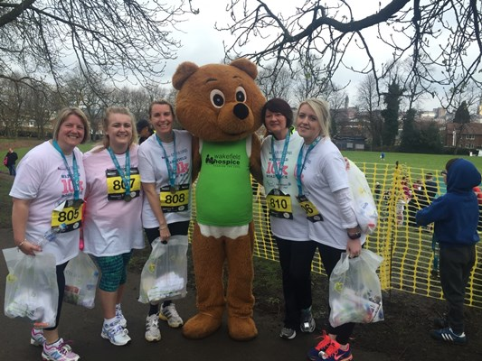 WDH runners raised over £2000 for Wakefield Hospice