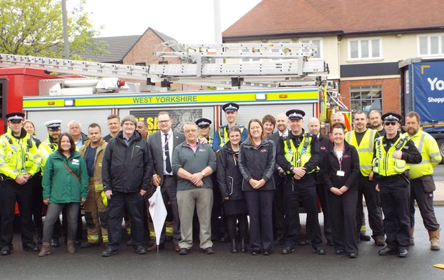 Staged car crash promotes road safety in Airedale.