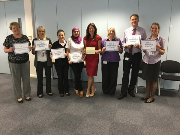 WDH recognised as a Dementia Friendly organisation