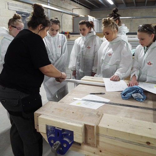Girls from Castleford Academy take their first steps into Construction with WDH