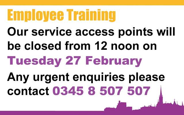 SAP closure for training (Wednesday 8 June at noon)
